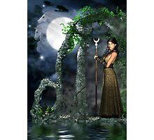 Moon Goddess - Selene Photographic Print
