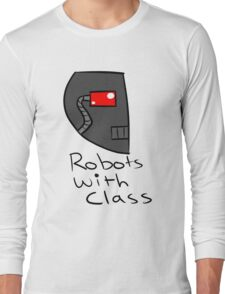 Robots with Class Long Sleeve T-Shirt