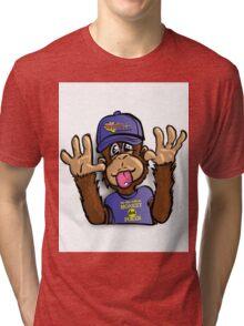 Monkey Poker  Tri-blend T-Shirt