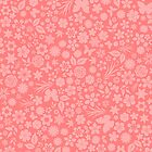 Flower & Butterfly Pattern - Pink by chayground