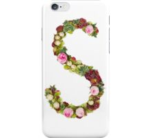Capital Letter S Part of a set of letters, Numbers and symbols iPhone Case/Skin
