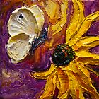 Cabbage White Butterfly & Flower by OriginalbyParis
