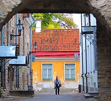 Approaching an Old Town Gate by M-EK