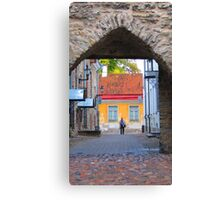 Approaching an Old Town Gate Canvas Print