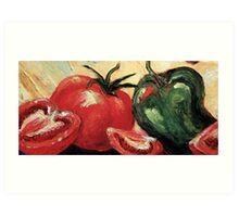 Garden Vegetables Art Print