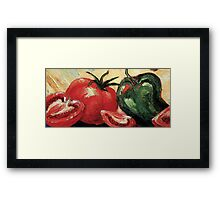 Garden Vegetables Framed Print