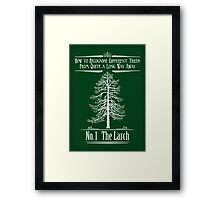 No. 1 The Larch Framed Print