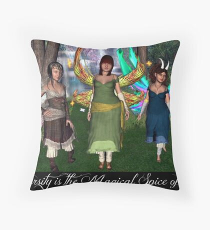 Diversity is the Magical Spice of Life Throw Pillow