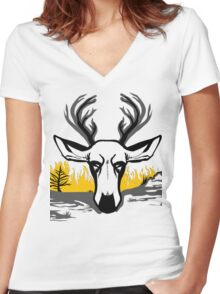 Forest Fire - Shirt Women's Fitted V-Neck T-Shirt