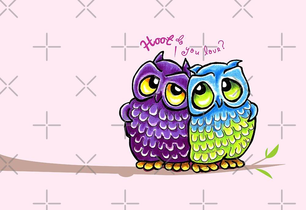 Owls in Love by offleashart