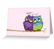 Owls in Love Greeting Card