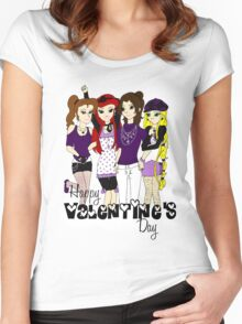 Love Love Purple Women's Fitted Scoop T-Shirt