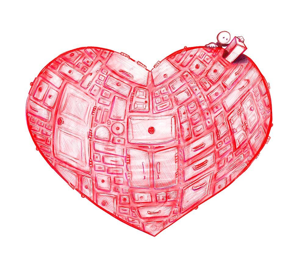 Heart Cabinet by brookeduckart