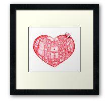 Heart Cabinet Framed Print