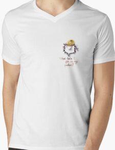 Pocket 01 Mens V-Neck T-Shirt