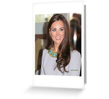 Kate Middleton Greeting Card