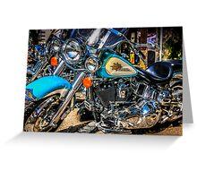 Harley Davidson Motorcycles Greeting Card