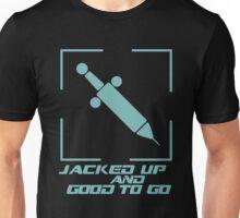 Jacked Up and Good To Go! - Blue Unisex T-Shirt