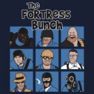 The Fortress Bunch Blue- Team Fortress 2 shirt by spacemonkeydr