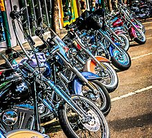 Line up of Harley hogs by chris-csfotobiz
