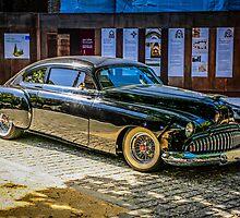 Black 1950s Custom American Car by Chris L Smith