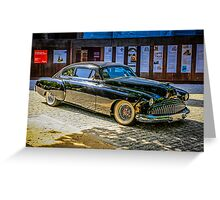 Black 1950s Custom American Car Greeting Card