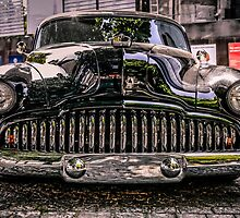 Black 1950s Custom American Car by Chris L Smith