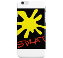 Yellow Splat Black Background iPhone Case/Skin