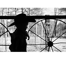 young cowboy Photographic Print