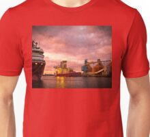 Port of Blyth at dusk with Artistic Filter Unisex T-Shirt