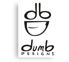 dumb Logo and Type Canvas Print