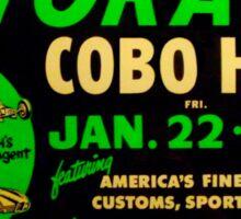 Autorama Poster Cobo Hall 1966 Sticker
