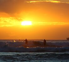 Surfers on sunset by kurtolo
