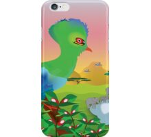 Turaco (Knysna) and African landscape iPhone Case/Skin