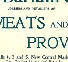 Barlum & Son Provisions Supplier Ad 1880 Detroit Sticker