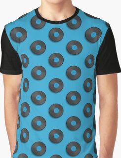 Vintage Vinyl Record Polka Dot Graphic T-Shirt
