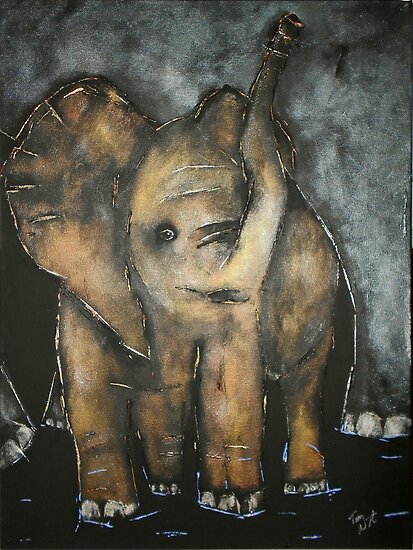 Baby Elephant 3 by Tom Norton
