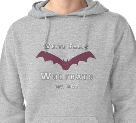White Falls Wolfbats  Pullover Hoodie