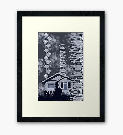 Is it a Drawing?-Kelp, House, Rays Framed Print
