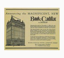 Vintage Detroit Ad for the Book Cadillac Hotel in 1926 T-Shirt