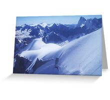 Blue View from the Top Greeting Card