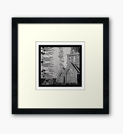 Is it a Drawing?-Kelp, Church, Rays Framed Print