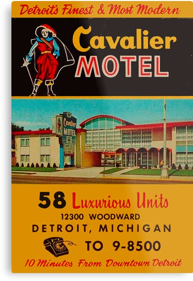 Vintage Cavalier Motel Detroit Ad by The Detroit Room
