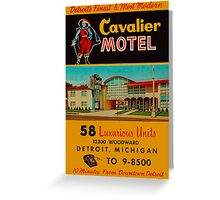 Vintage Cavalier Motel Detroit Ad Greeting Card