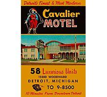 Vintage Cavalier Motel Detroit Ad Photographic Print