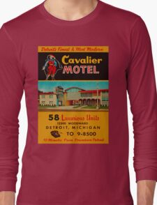 Vintage Cavalier Motel Detroit Ad Long Sleeve T-Shirt