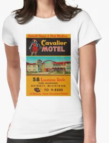 Vintage Cavalier Motel Detroit Ad Womens Fitted T-Shirt