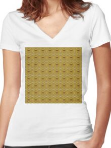 ABSTRACTION 42 Women's Fitted V-Neck T-Shirt