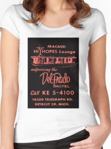 Vintage Detroit Del Prado Motel Ad Women's Fitted Scoop T-Shirt