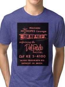 Vintage Detroit Del Prado Motel Ad Tri-blend T-Shirt